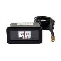 Термометр (прямоугольный) для котлов 58*25 мм., 10-105С.