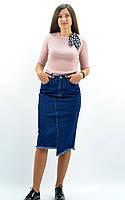 Джинсовая юбка карандаш синего цвета ТМ It's Basic арт. 1331W18, размеры: 34, 36, 38.