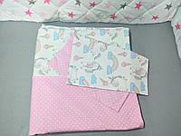 Постельный комплект для подростковой кровати( пододеяльник и наволочка)