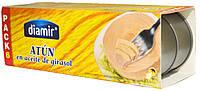 Тунец желтый в подсолнечном масле Diamir Atun Claro en aceite de girasol 6х80г.ж/б