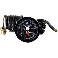 Термоманометр капиллярный (круглый) ф 52мм., 0-120С, для котлов.