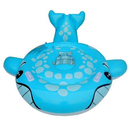 Детский надувной плотик для плавания Intex 57527 «Синий Кит», 160 х 152 см , фото 2
