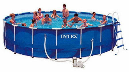 Каркасный бассейн Intex Metal Frame 28252/54952 (549x122 см.) , фото 2