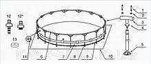 Каркасный бассейн Intex Metal Frame 28252/54952 (549x122 см.) , фото 3
