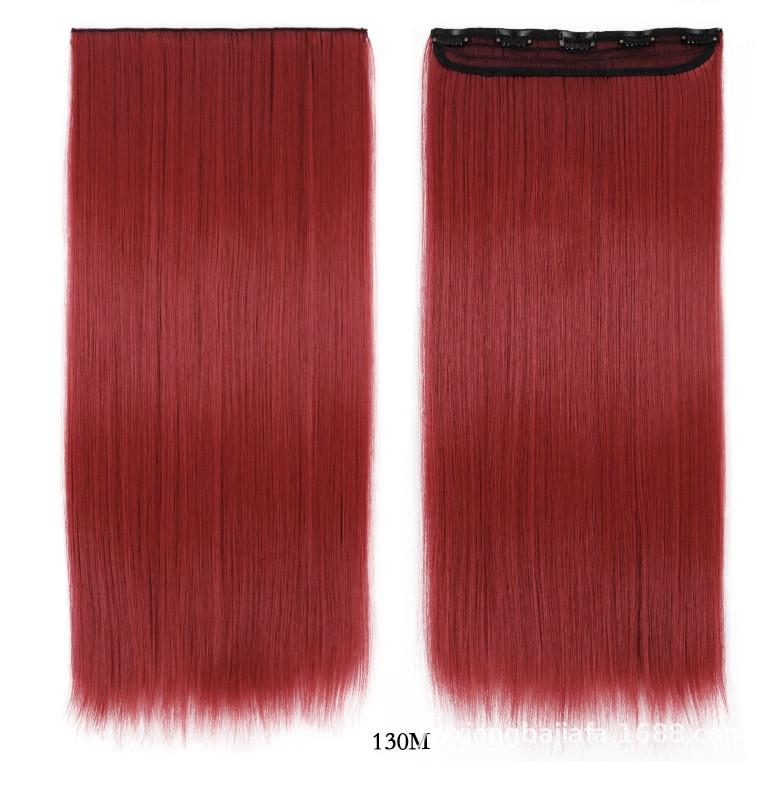 Накладне волосся на кліпсах,тресс 60 см колір червоний
