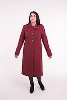Пальто женское кашемировое -Л-591 бардо, фото 1