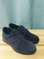 Ботинки Inblu женские замшевые синие, спортивного стиля, на резинке 39