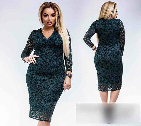 """Волшебное женское платье ткань """"Гипюр на подкладке """" 46, 48, 50 размер батал, фото 2"""