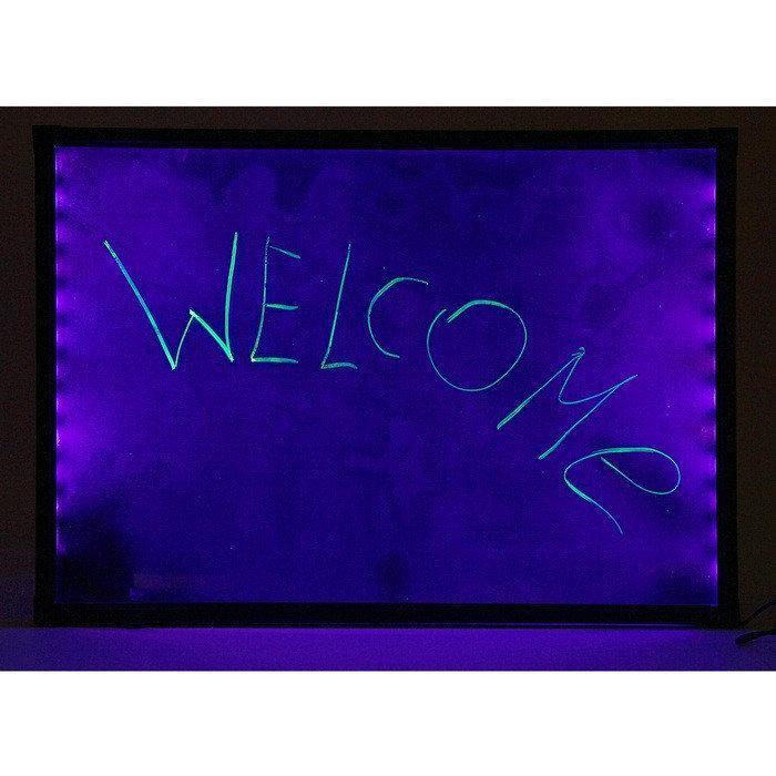 Флуоресцентная доска Fluorecent Board 3040 с фломастером и салфеткой PR4