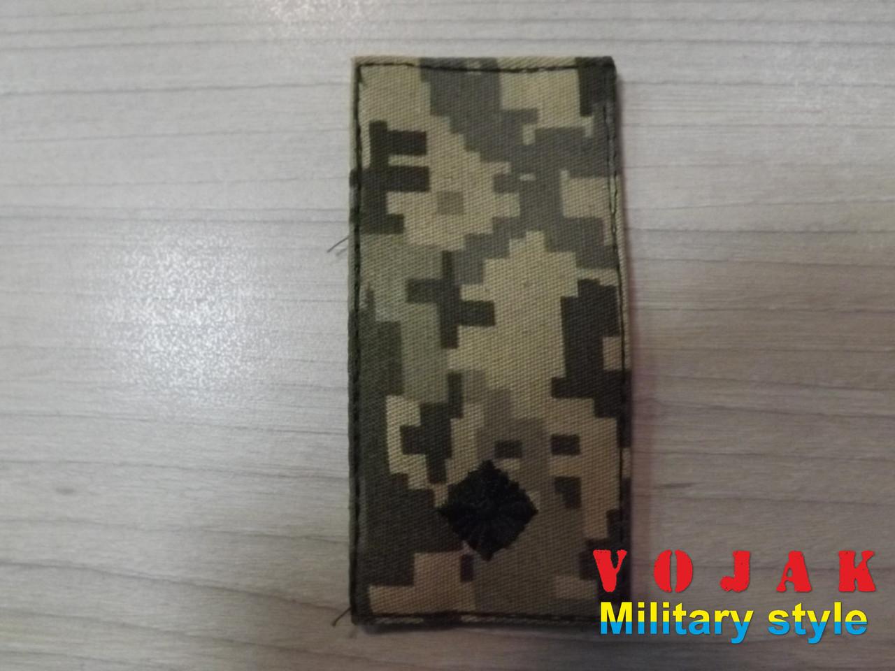 Погон (нашивной) ЗСУ Молодший лейтенант (тк.NDU) 10*5см (3877)
