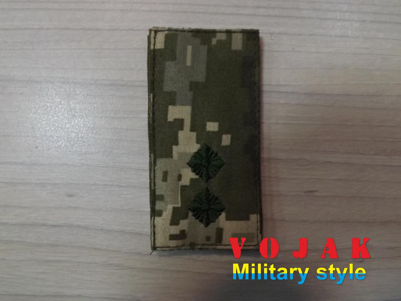 Погон (нашивной) ЗСУ Лейтенант (тк.NDU) 10*5см (3876)