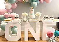 Буквы из Пенопласта 50 см [100мм] Объемные Большие Декоративные Декорации цифры на свадьбу слова з пінопласту, фото 1
