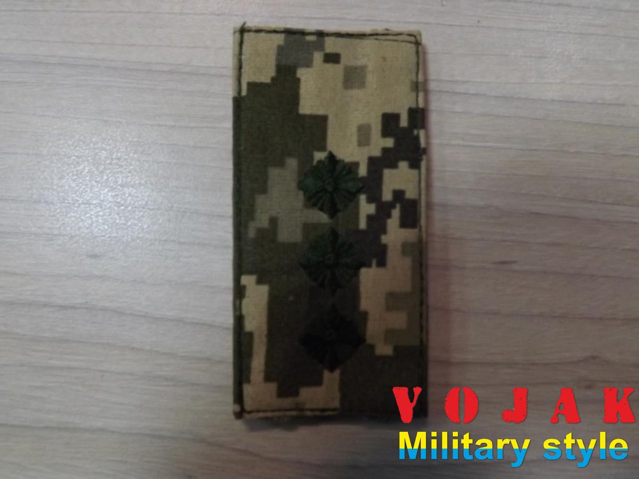 Погон (нашивной) ЗСУ Старший лейтенант (тк.NDU) 10*5см (3875)