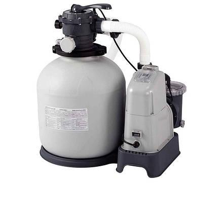 Песочный насос с хлоргенератором Intex 28680, 10 000 л/ч хлор 11 г/ч, 45 кг, фото 2