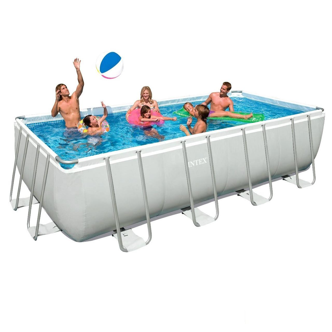 Каркасный бассейн Intex 28350. Сборный Ultra Frame 400 х 200 х 100 см