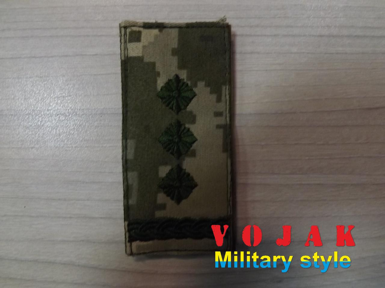 Погон (нашивной) ЗСУ Полковник (тк.NDU) 10*5см (3872)