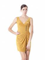 Платье летнее красивое на запах, платье масло ткань желтое, платье нарядное молодежное, фото 1