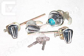 Замок двери и багажника Волга 2401 (4зам.+2ключа) (пр-во Россия). 2401-6105090-02