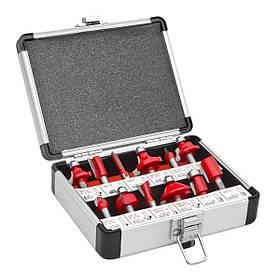 Комплект верхних фрез 12 шт. в алюминиевом чемодане Holzmann OFS 12