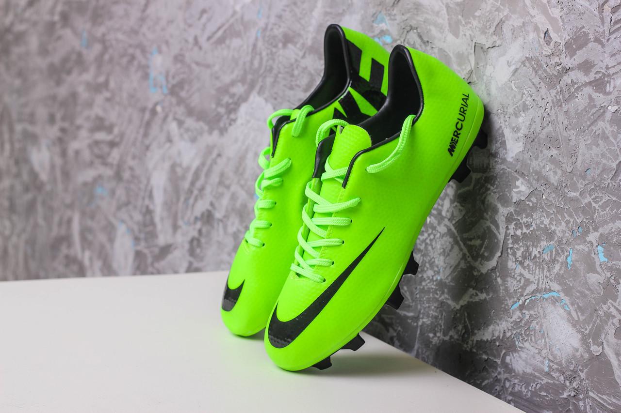 Бутсы Nike Mercurial (салатовые) 1004