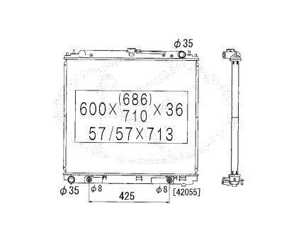 Радиатор охлаждения Koyorad NISSAN NAVARA AT 21460EB80A