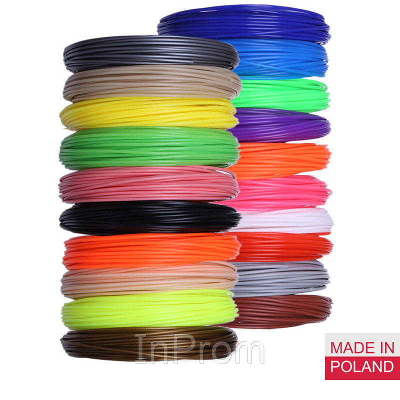 Набор пластика PLA для 3D ручек 350 метров (14 цветов по 25 метров)