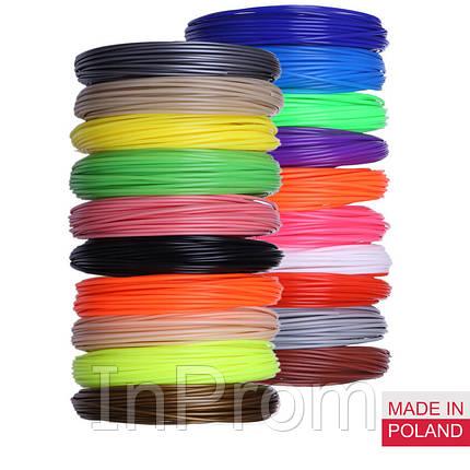 Набор пластика PLA для 3D ручек 350 метров (14 цветов по 25 метров), фото 2