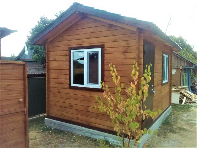 Деревянный дом из профилированного бруса 3х4 м