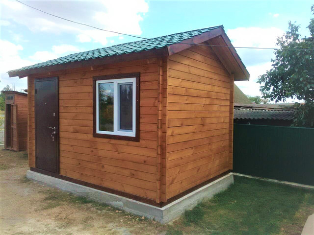 Деревянный дом из профилированного бруса 3х4 м фото