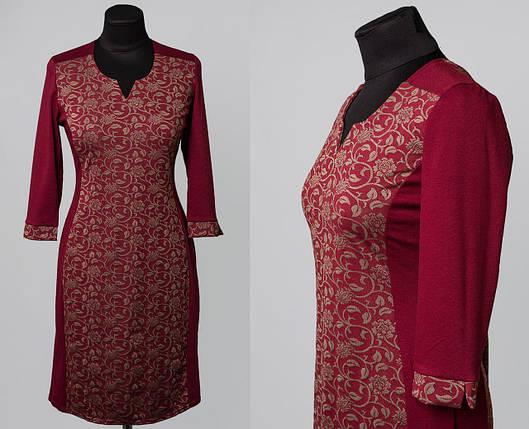 """Стильное женское платье ткань """"Французский трикотаж"""" 48, 50, 52, 54, 56 размер батал 48, фото 2"""