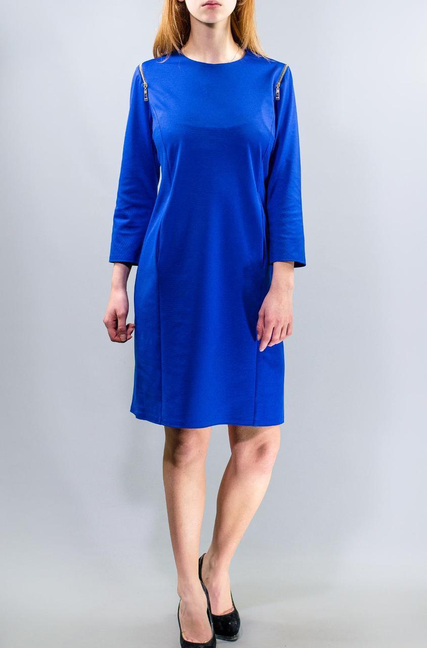 """Стильное женское платье ткань """"Французский трикотаж"""" на рукавах молнии 50 элект размер батал 48"""