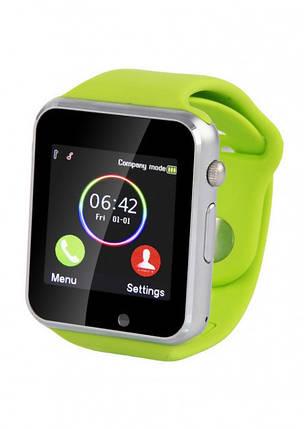 Смарт часы с камерой Smart Watch A1 в стиле Apple watch Green, фото 2