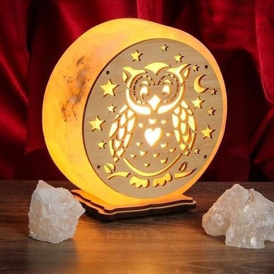 """Соляная лампа светильник """"Совушка"""""""
