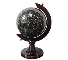Глобус – ночное небо из полудрагоценного камня топаз S22001