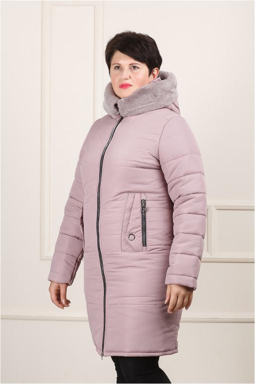 Зимняя женская куртка Дафна пудра