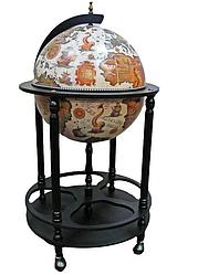 Глобус бар підлоговий на 4 ніжки 420мм беж-чорний 42003W-В