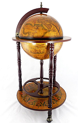Глобус бар підлоговий на 3-х ніжках 360 мм коричневий 36001 R