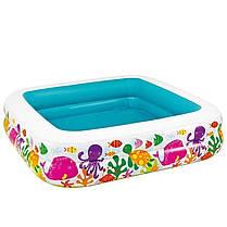 Детский надувной бассейн Intex 57470 «Аквариум» со съемным навесом, 157 х 157 х 122 см, фото 3
