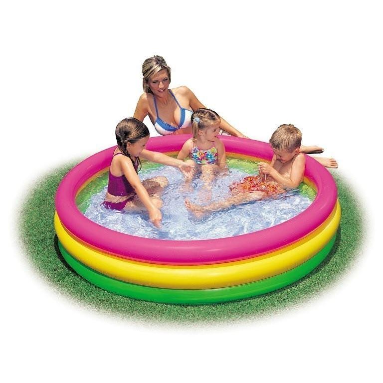 Детский надувной бассейн Intex 57422 «Цвета заката», 147 х 33 см Надувное дно