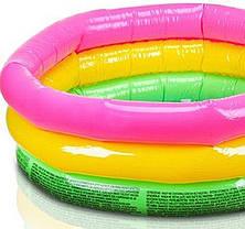Детский надувной бассейн Intex 57422 «Цвета заката», 147 х 33 см Надувное дно, фото 3