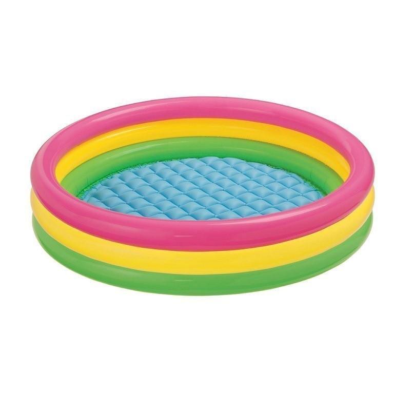 Детский надувной бассейн Intex 57412 «Радужный», 114 х 25 см Надувное дно