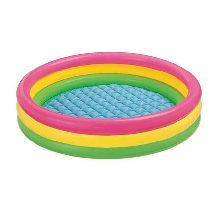 Детский надувной бассейн Intex 57412 «Радужный», 114 х 25 см Надувное дно, фото 2