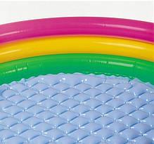 Детский надувной бассейн Intex 57412 «Радужный», 114 х 25 см Надувное дно, фото 3