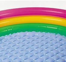 Детский надувной бассейн Intex 57422-1 «Цвета заката», с шариками 10 шт,147 х 33 см  Надувное дно, фото 2