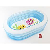 Детский надувной бассейн Intex 57482 «Морские друзья», 163 х 107 х 46 см , фото 2
