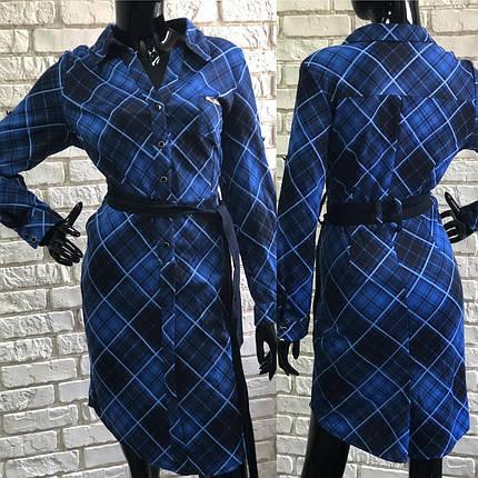 """Восхитительное женское платье ткань """"Французский трикотаж"""" 52 размер батал, фото 2"""