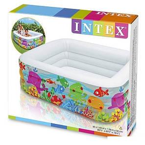 Детский надувной бассейн Intex 57471 «Аквариум», 159 х 159 х 50 см  , фото 2