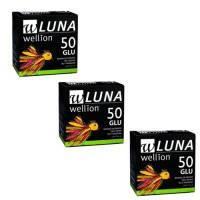 Тест-полоски Wellion Luna №50 глюкоза - 3 уп. Оптовый комплект!