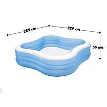 Детский надувной бассейн Intex 57495 «Семейный», синий, 229 х 229 х 56 см , фото 2