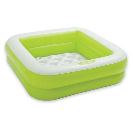 Детский надувной бассейн Intex 57100, зелёный, 85 х 85 х 23 см , фото 2